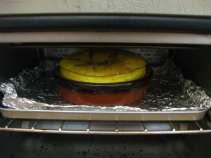 Cooking in the oven